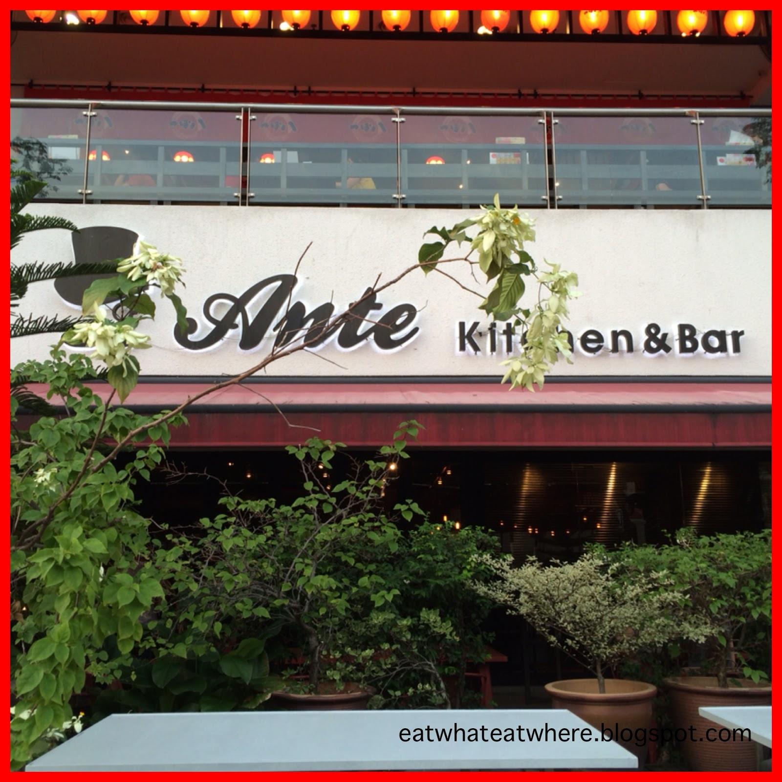 Eat What, Eat Where?: Ante Kitchen & Bar @ Solaris Dutamas