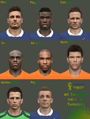 PES 2014 World Cup facepack vol.1 By Tunizizou