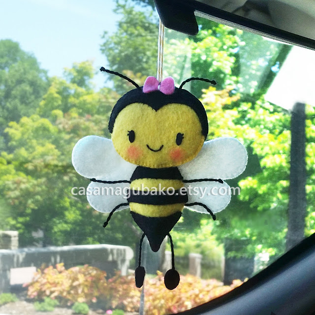 Felt Bee Ornament by Casa Magubako