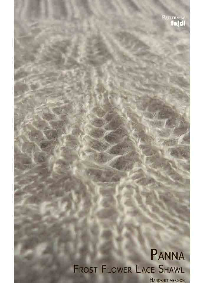 Foldi Panna Frost Flower Free Shawl Pattern Handknit