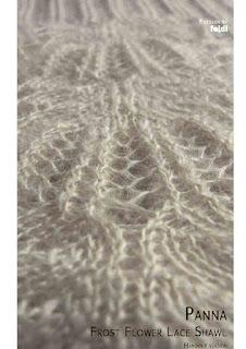 panna frost flower scarf shawl free knitting pattern