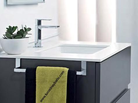 lavabo diseño mural apoyar corian negro | tu cocina y baño - Muebles Toalleros Para Banos