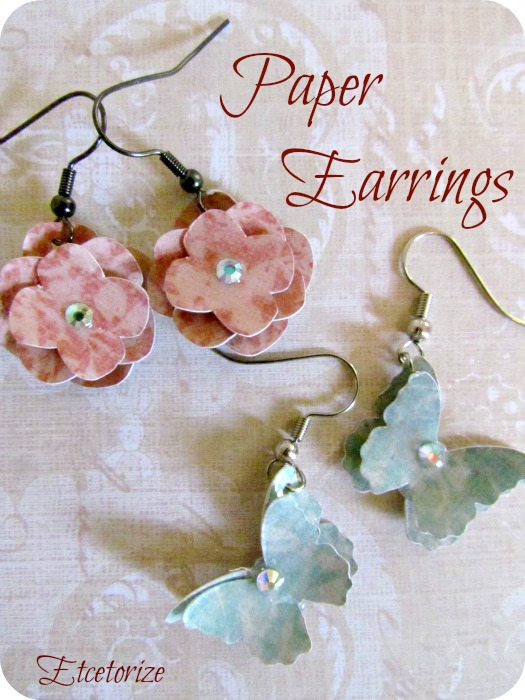 how to make paper earrings at home step by step