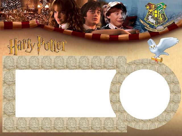 Invitación, tarjeta o marco de fotos de Harry Potter.