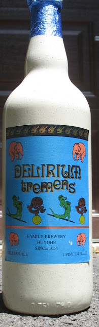 A bottle of Delirium Tremens - Opaque glass