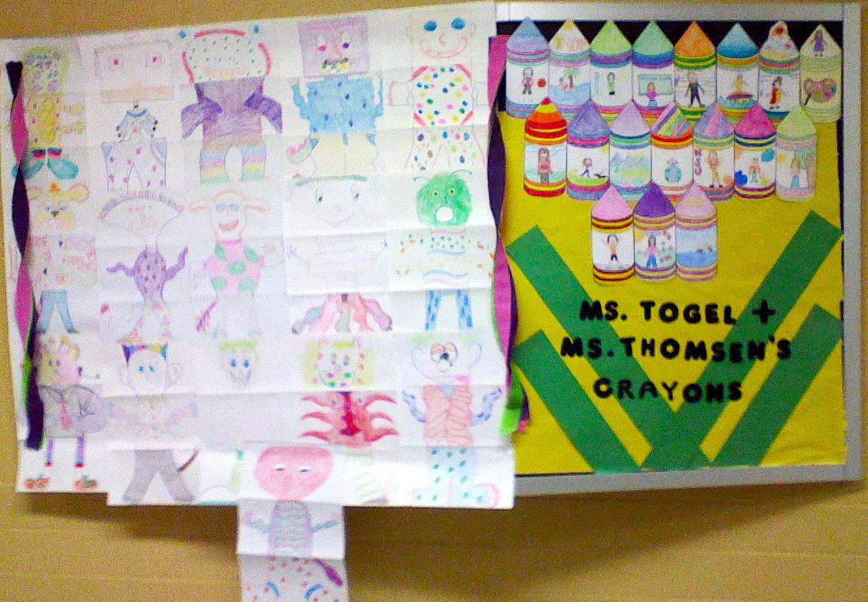 Megan\'s Art Blog: Crayon Bulletin Board Display