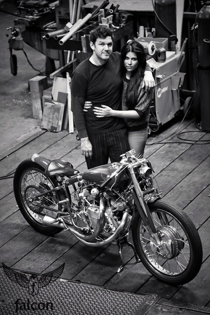 ian and amaryllis of falcon motorcycles | photo by lance dawes