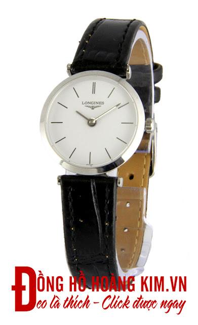 Đồng hồ đeo tay nữ dây da giá rẻ Longines
