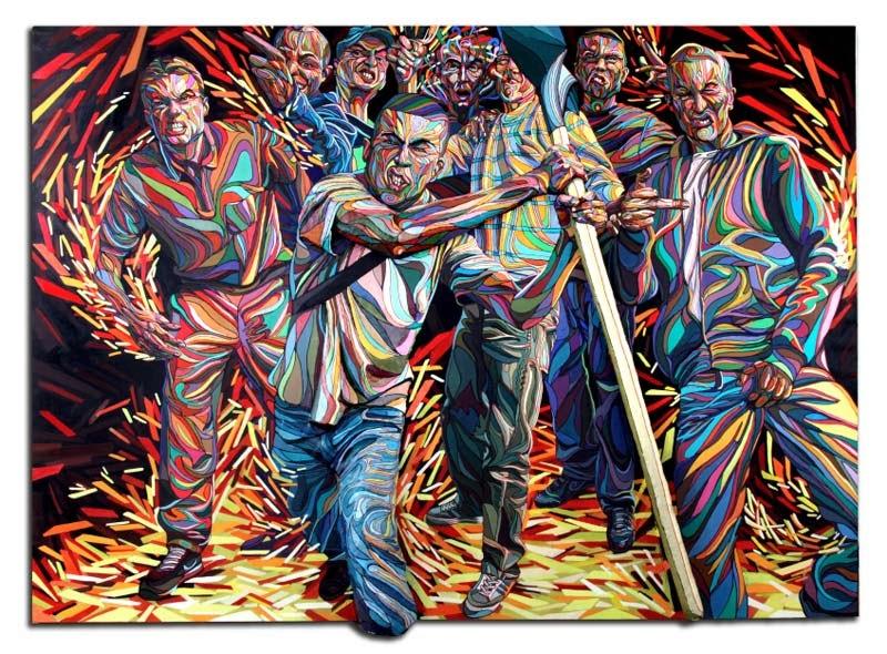 Shaka, Marchal Mithouard, pinturas tridimensionales