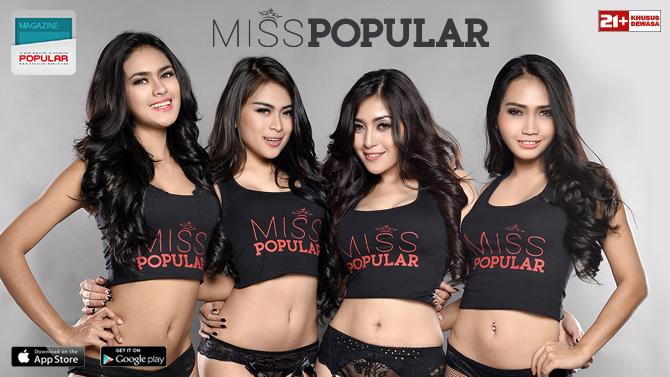 Download Koleksi Foto Sexy Model Miss POPULAR Edisi 01 - 2015, Gege Fransiska, Zairah Wijaya, Echa Frauen, Eka Lim