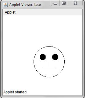 Java Applet Program to Draw a human Smiley Face