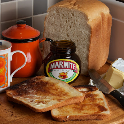 Marmite, white toast and tea