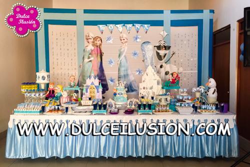 Decoracion Fiesta Infantil De Frozen Dulce Ilusion Dulce Ilusion - Adornos-fiesta-infantil