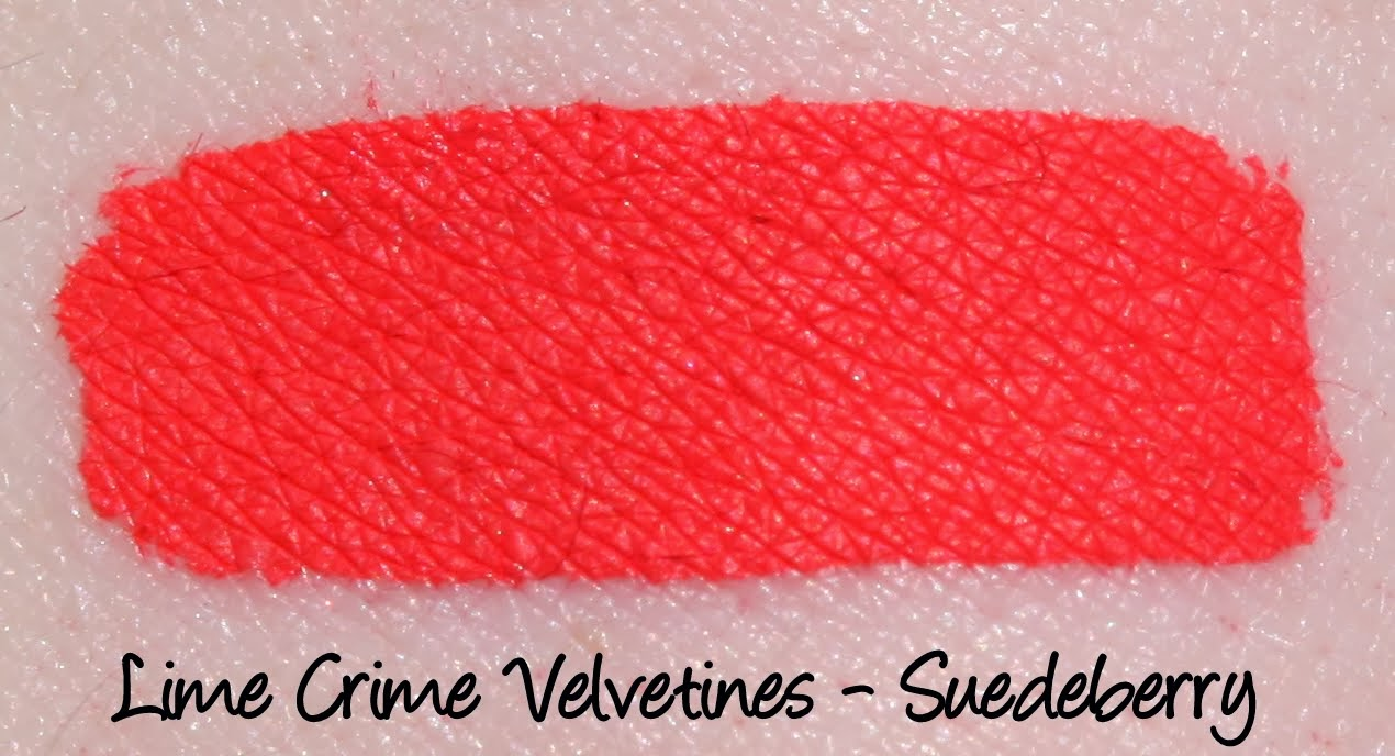 Lime Crime Velvetine - Suedeberry Swatch