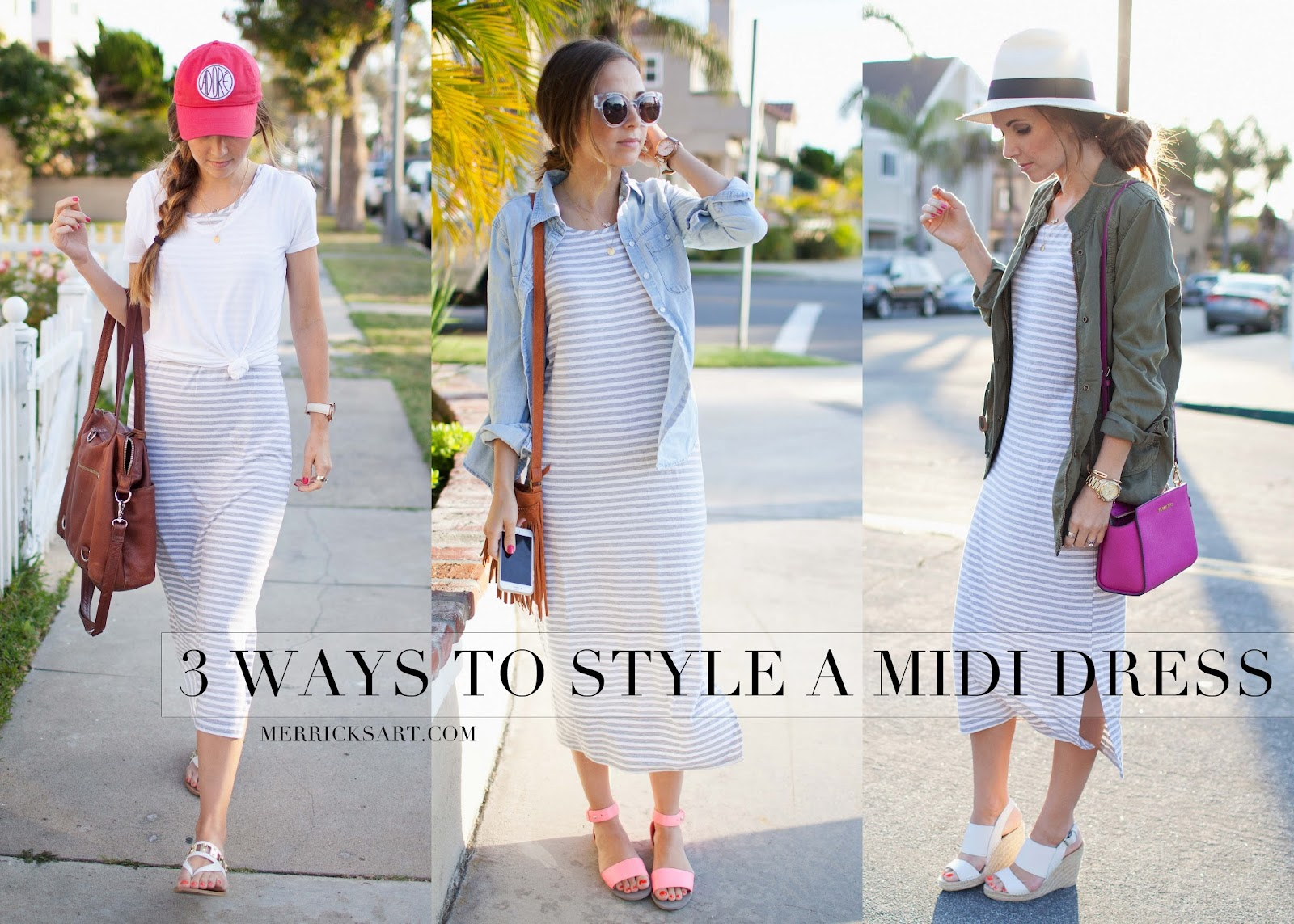 Merrick's Art | Three Ways to Wear a Midi Dress