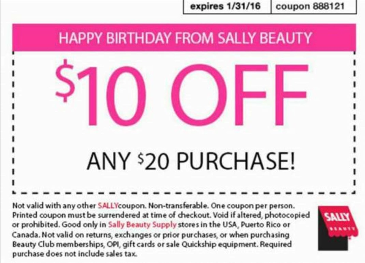 Sally coupon code