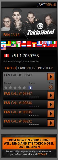 Tokio Hotel VIP Call  Hfhgffg
