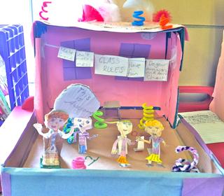 4th grade book report diorama