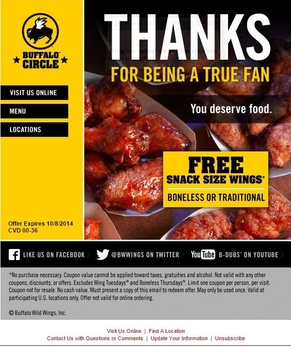 Order resume online buffalo wild wings