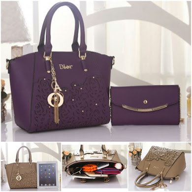 DIOR DESIGNER BAG - PURPLE