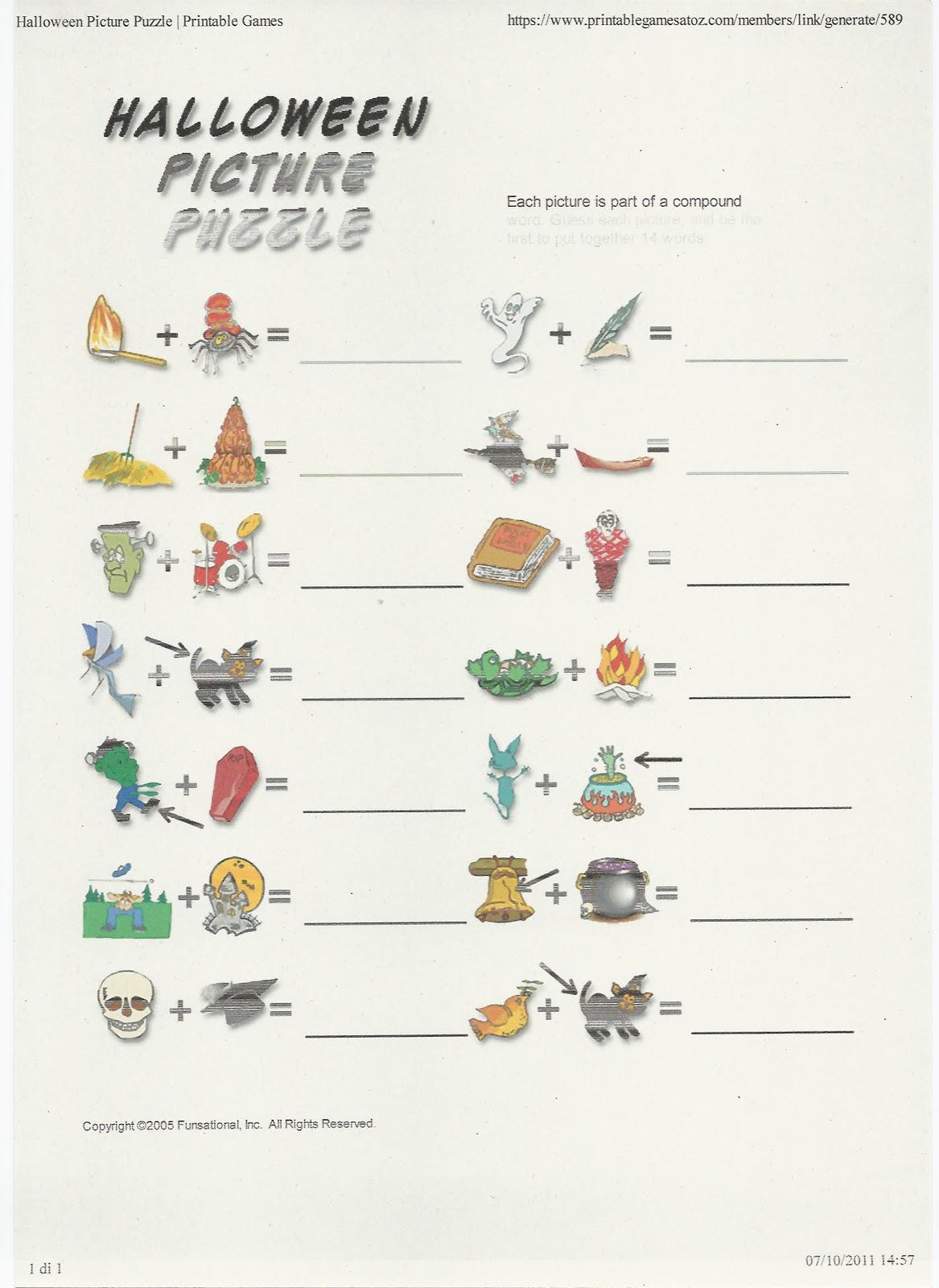Disegni da colorare halloween schede divertenti tombola - Immagini in francese per bambini ...