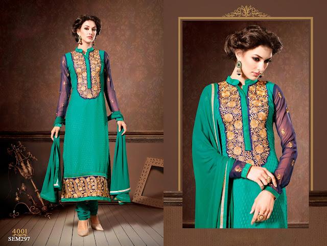 New Arrival Designer Embroidered Neck Long Anarkali Suit