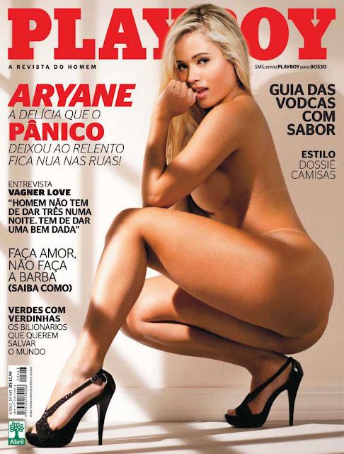 Confira as fotos da  Delicia Que o Pânico Deixou ao Relento, Aryane Steinkopf, capa da Playboy de abril de 2012!