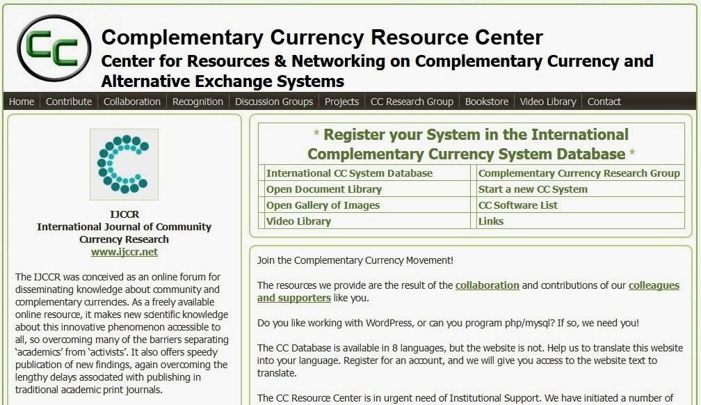 ComplementaryCurrency.org - Globális legnagyobb kiegészítő pénznem kutató adatbázis.