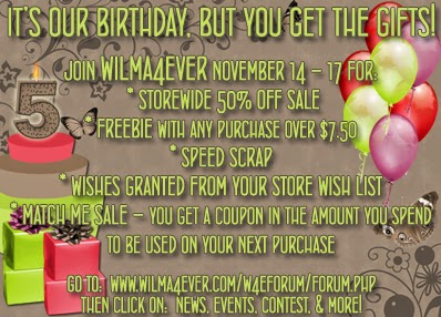 http://www.wilma4ever.com/w4eforum/showthread.php?3986-November-2014-W4E-s-5th-Birthday!