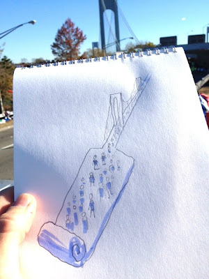 Adk1JhSCIAAw4o9 Christoph Niemann is drawing his experience in the NY Marathon