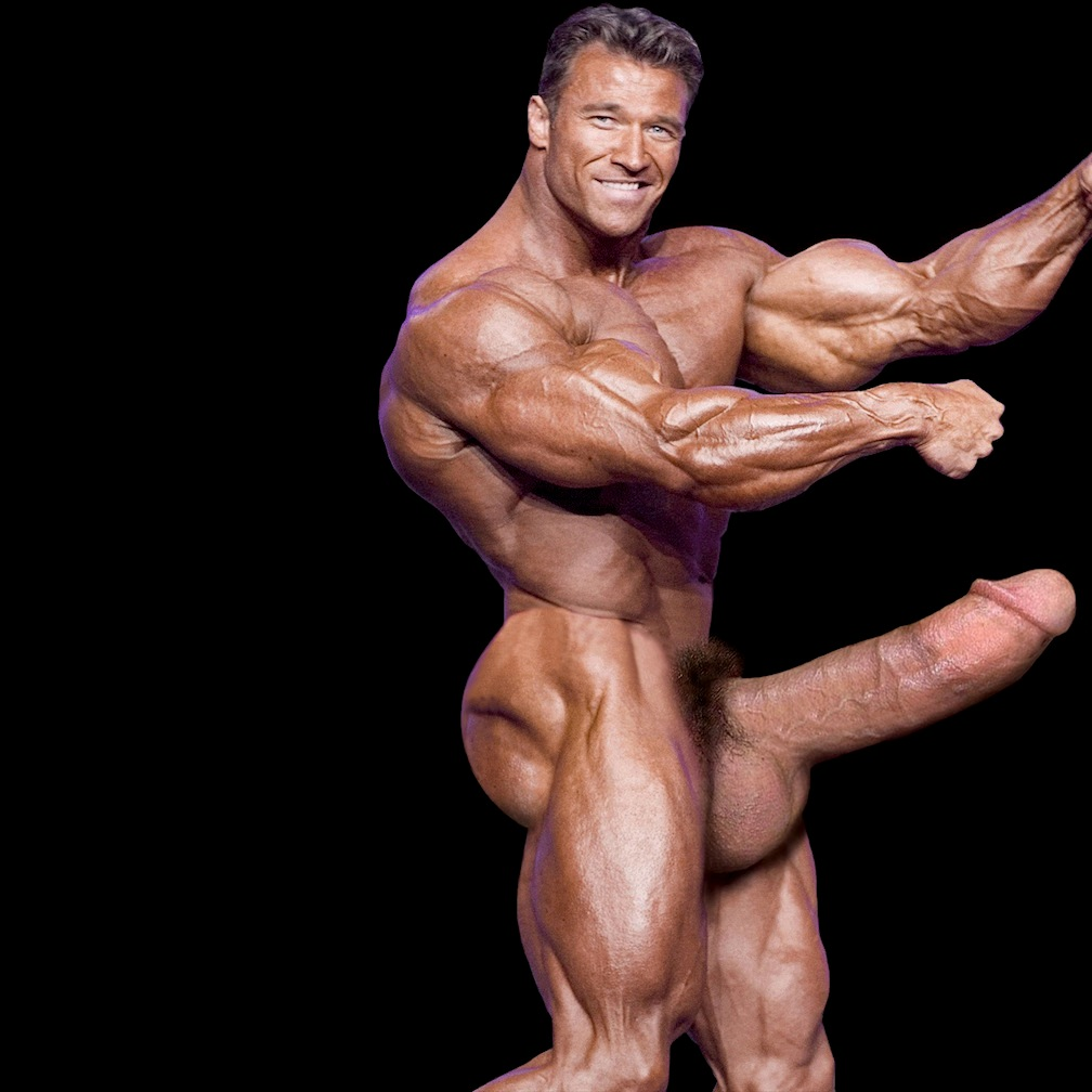 big dick muscle men