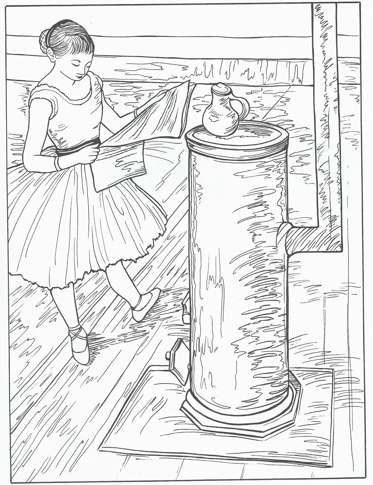 Disegni da colorare disegni da colorare dipinti di degas for Quadri da copiare