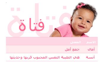 اسماء بنات جديدة ومعانيها 2014
