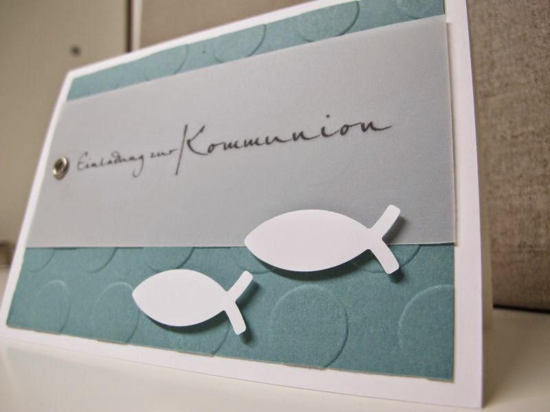 Stempelberg: Einladung zur Kommunion / Konfirmation