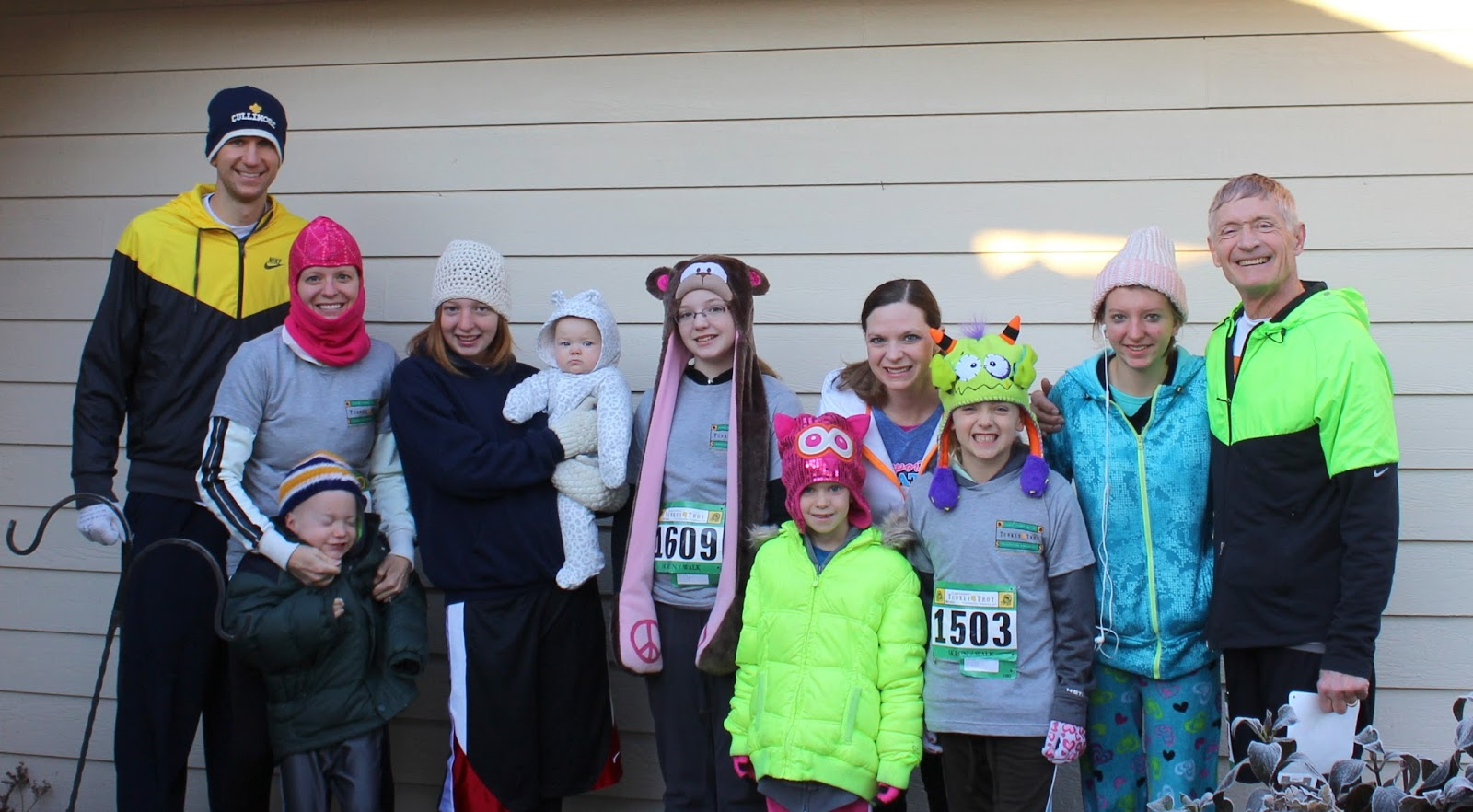 Ready to run the Clark County Turkey Trot