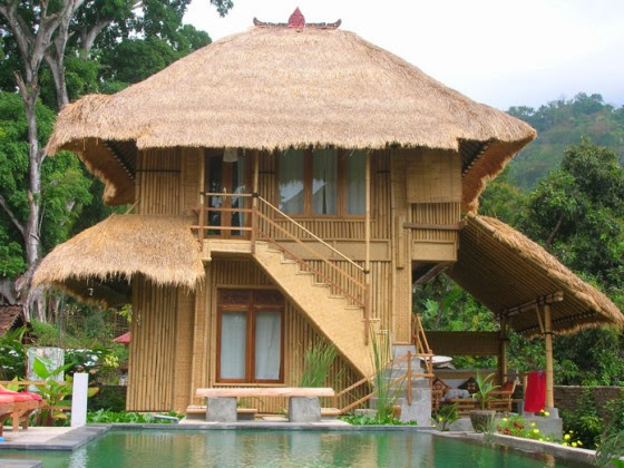 Unique Bamboo House Minimalist and Modern