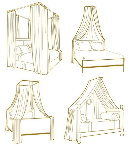 Peonies and orange blossoms bed cornices for Build your own canopy frame