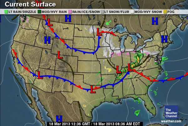 Current Surface Map - Us current surface map