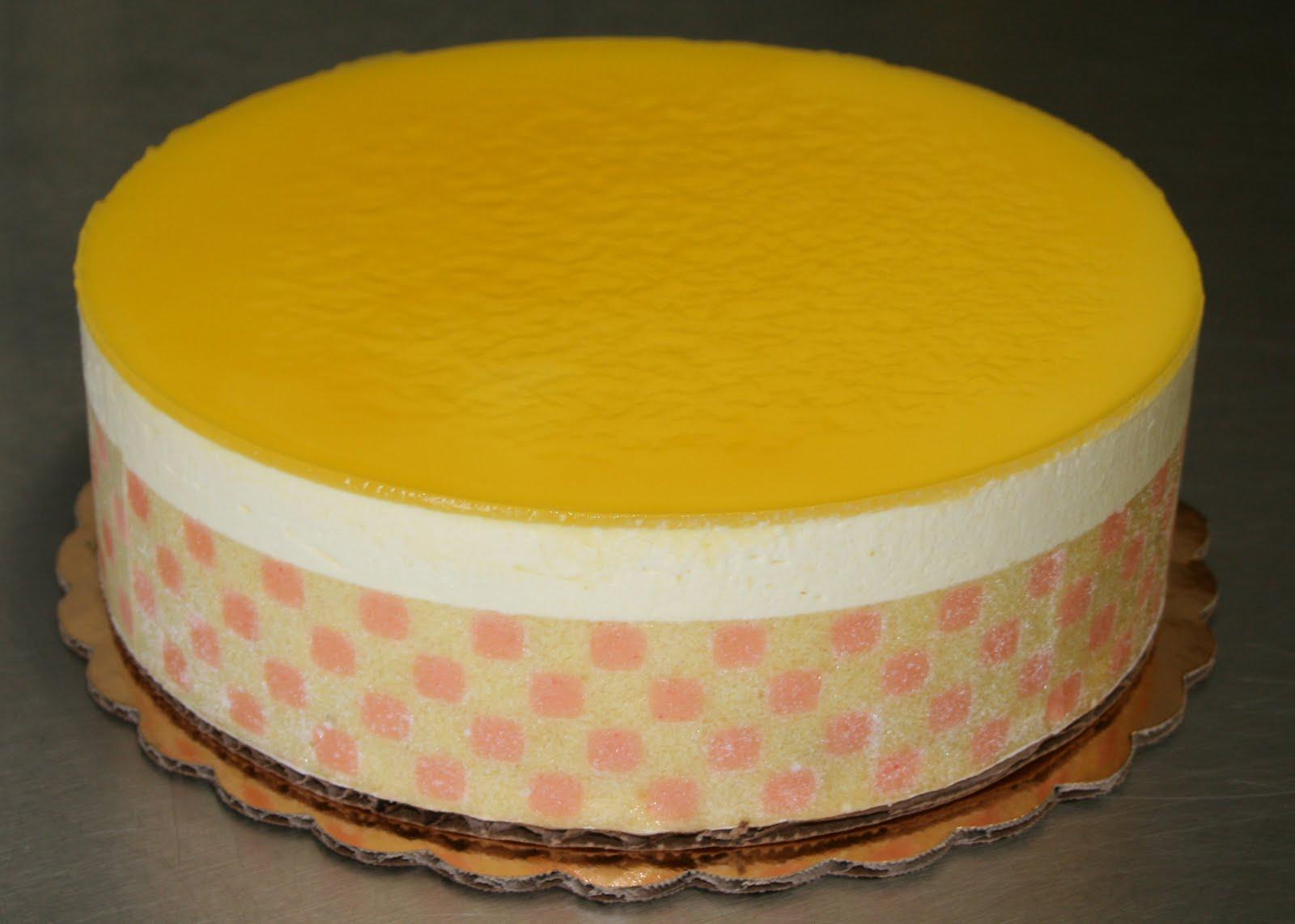 Mango Vanilla Bavarian Cream Cake