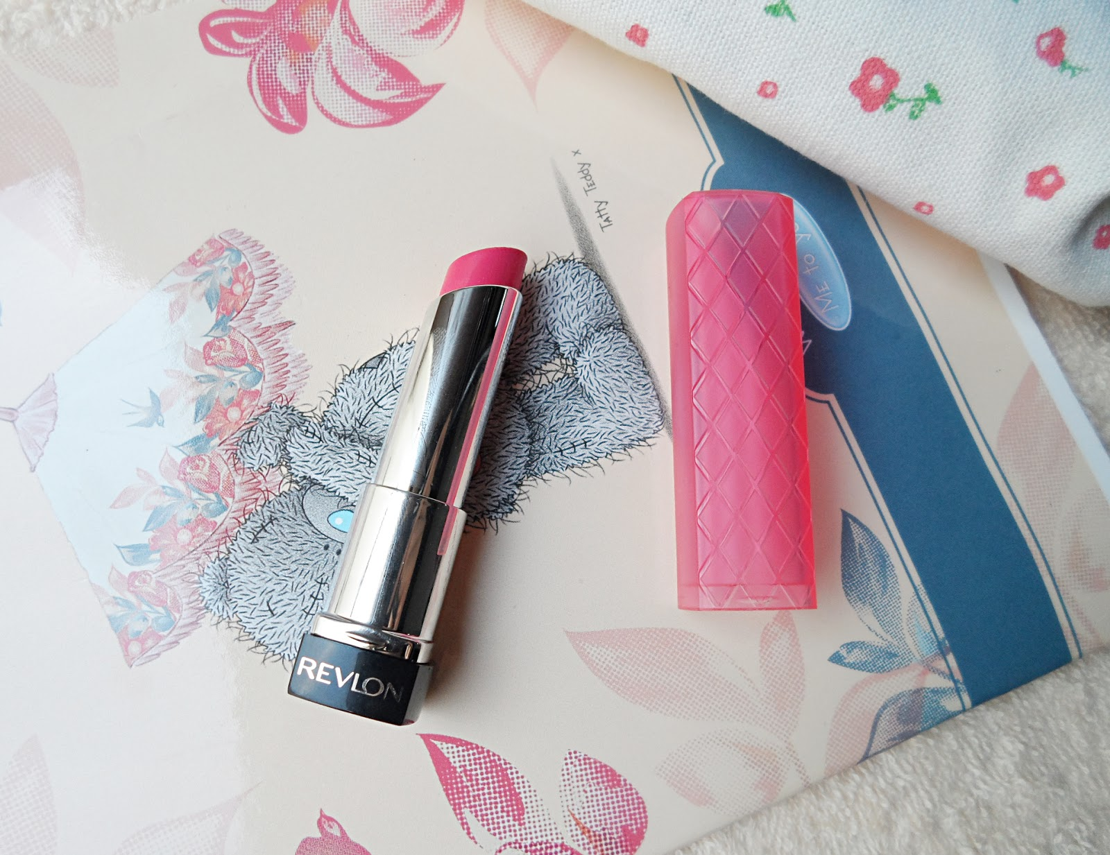 revlon cosmetics review pink lipstick swatches