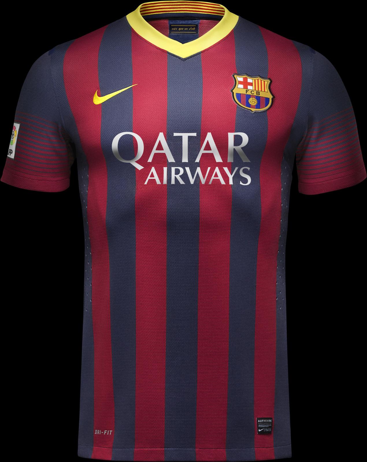 La liga news la liga 2013 14 shirts - New home barcelona ...