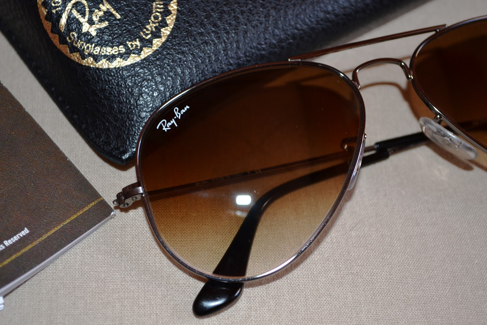 Ray Ban Aviator Dégradé Marron