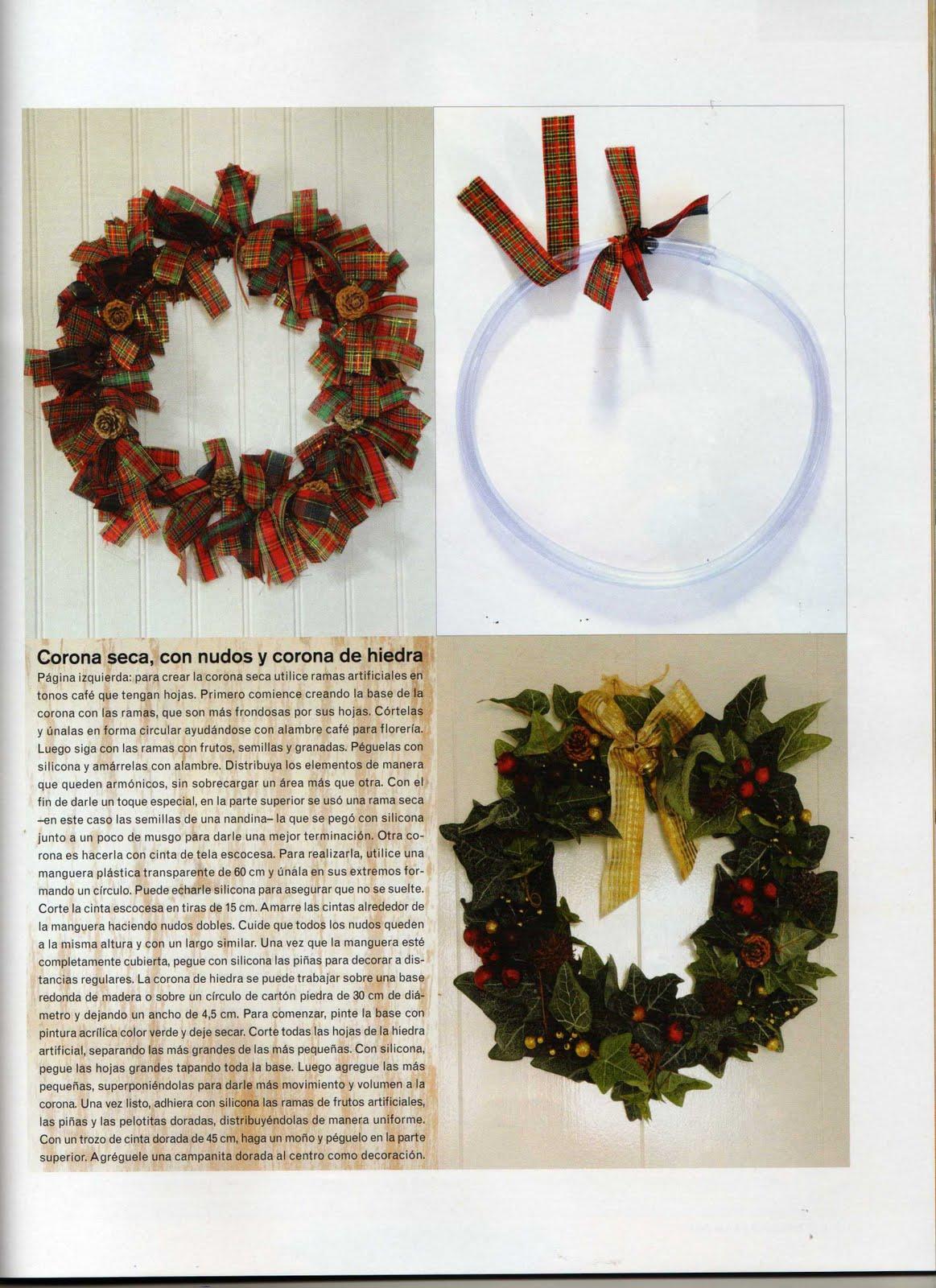 Decoraciones para navidad wreath o coronas para adornar - Coronas de navidad para puertas ...