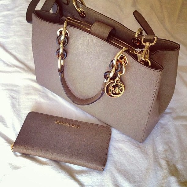 """Micheal Kors"" Grey Handbag for Fall"