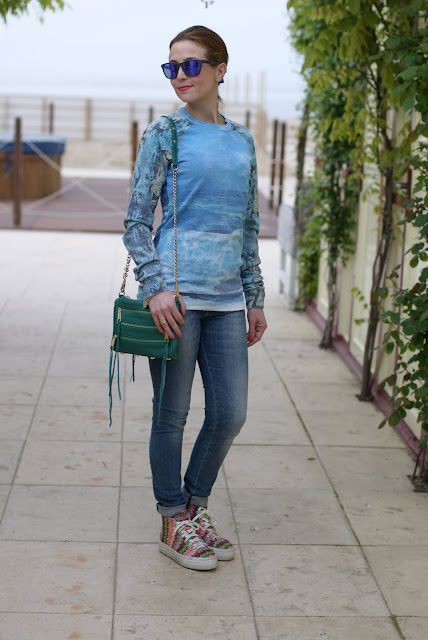 Sea printed sweatshirt, Lerock jeans, Fashion and Cookies