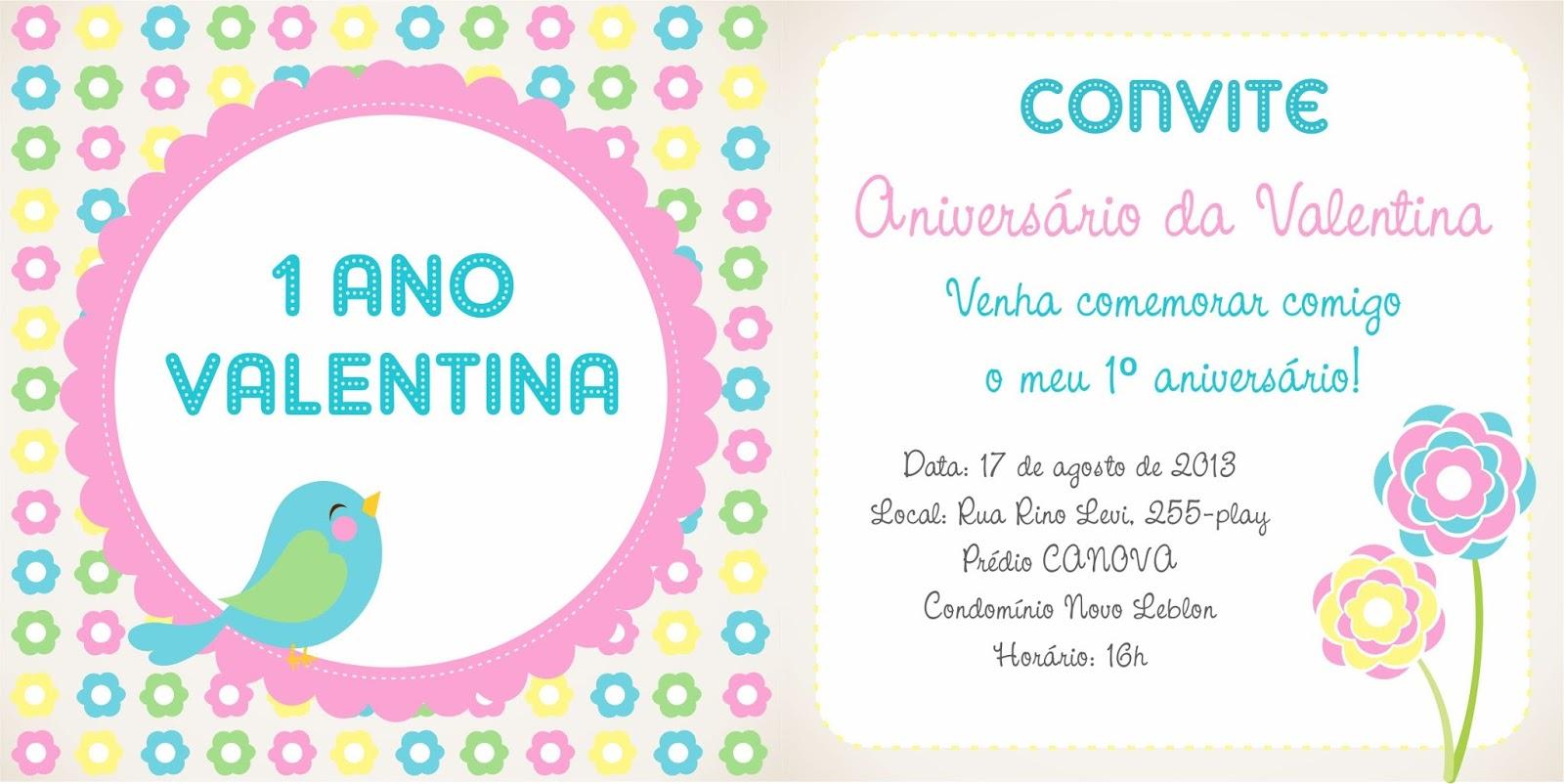 Convite De Aniversário Jardim Renata Freire Portfolio