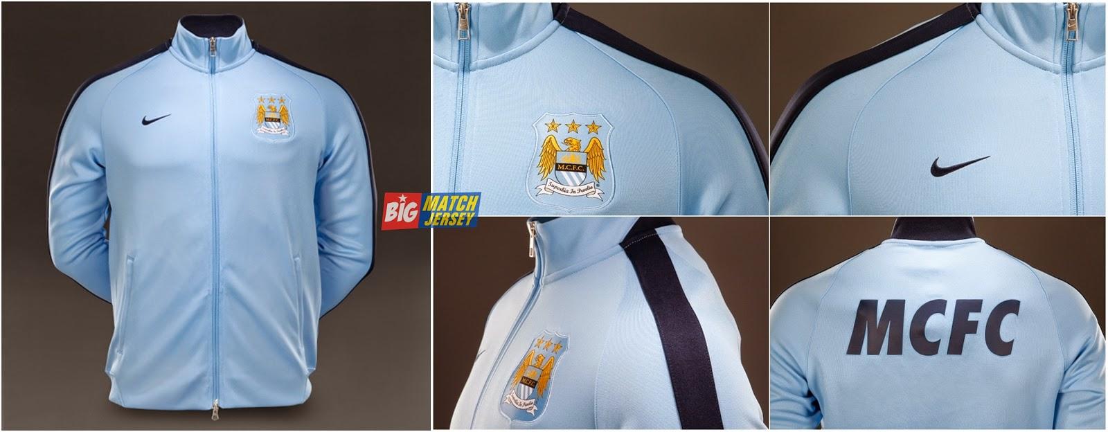 Nike N98 Man City FC Authentic Track Jacket FA - Field Blue Obsidian-horz