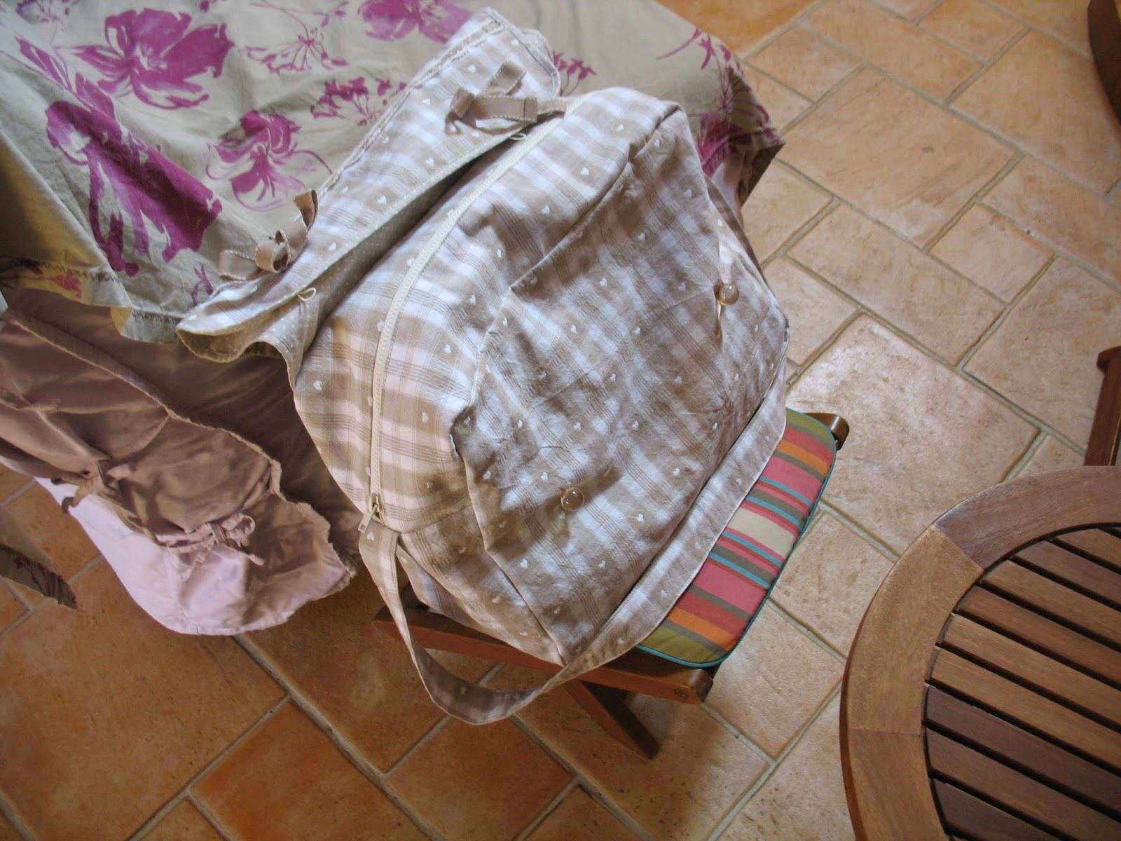 l 39 atelier couture de mademoiselle cam lia un sac langer. Black Bedroom Furniture Sets. Home Design Ideas
