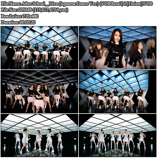 After School - Diva (Japanese Dance Ver.)(VOB Retail)