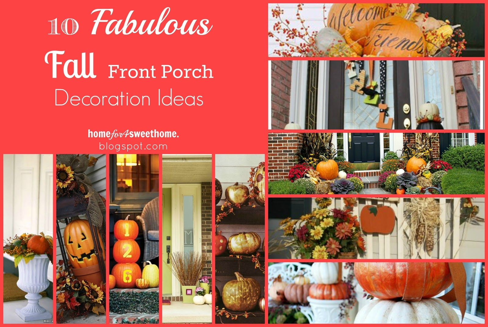 September Decorating Ideas Part - 17: 10 Fabulous Fall Front Porch Decoration Ideas